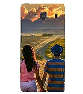Printvisa Premium Back Cover Potrait Of A Love Couple Design For Xiaomi Redmi 2S::Xiaomi Redmi 2::Xiaomi Redmi 2 Prime