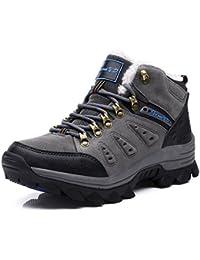 Beauqueen 2017 Otoño Invierno Plus Felpa Al Aire Libre Zapatos Deportivos Botas De Nieve De Los Hombres Antideslizante Mantener Caliente 39-44 (Color : Gray, tamaño : 41)