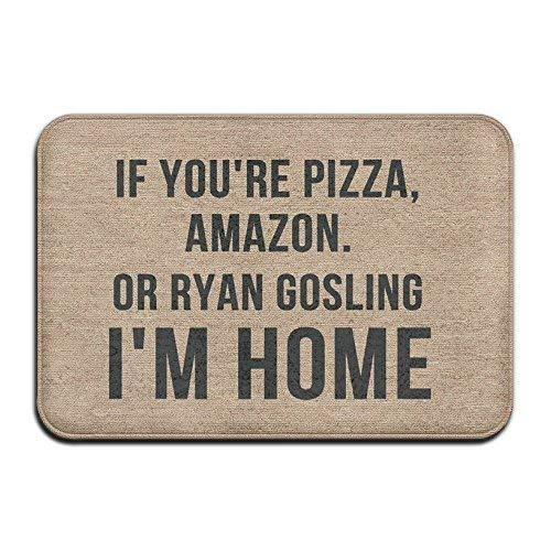 Miedhki If You\'re Pizza, Amazon Gold Ryan Gosling I\'m Home Super Absorbent Anti-Slip Matte Indoor/Outdoor Decor Rug Fußmatte, 23,6 x 15,7 Zoll