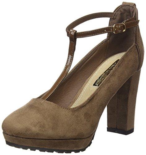 XTI Damen Zapato Sra. Antelina Combinada Taupe Stöckelschuh Taupe