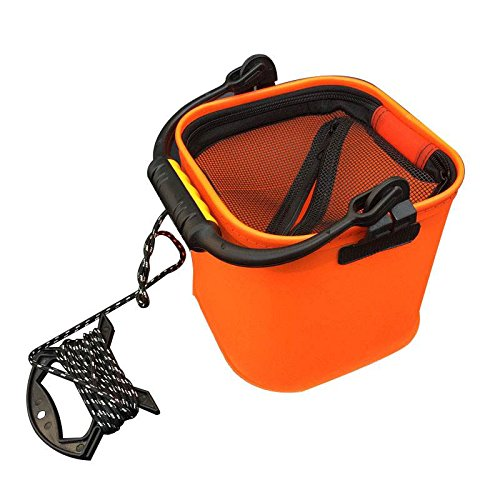 TOOGOO 20 CM Seau a eau EVA avec corde Seau pliable pour Camping / Peche (orange)