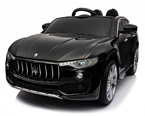 Maserati Macchina Elettrica per Bambini 2 Posti 12V Levante Nera