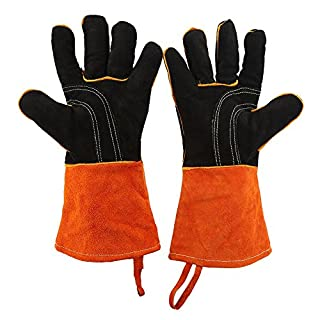 Heat Resistant Gloves BBQ Grilling Cooking Thicken Outdoor Barbecue Protection Gloves, 1 Pair