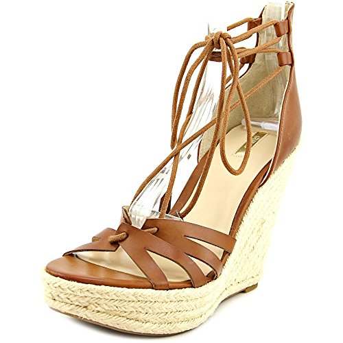 Guess Ollina Synthétique Sandales Compensés Medium Brown