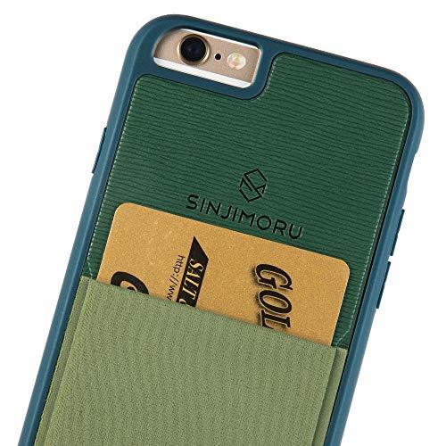 Sinjimoru iPhone 6 / 6s Wallet Case, iPhone 6 Hülle mit Kartenfach/iPhone 6 Schutzhülle mit Smart Wallet Kartenhalter. Sinji Pouch Case für iPhone 6 / 6s, Grün.