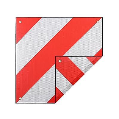 ZELSIUS Aluminium Warntafel | Spanien UND Italien | 2in1 rot-weiß 500 x 500 mm | reflektierend für Fahrradträger, Heckanhänger, Wohnwagen, Anhänger