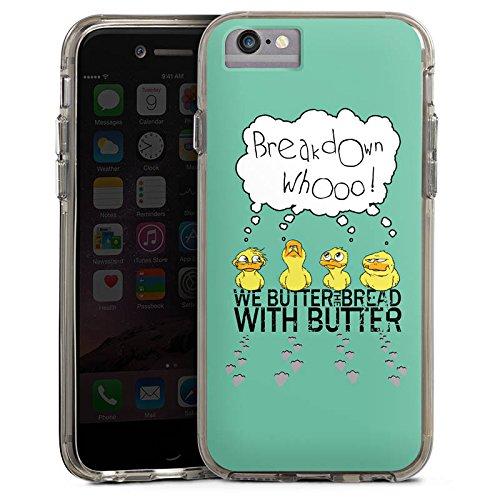 Apple iPhone 7 Bumper Hülle Bumper Case Glitzer Hülle We Butter The Bread with Butter Fanartikel Merchandise Fan Article Merchandise Bumper Case transparent grau