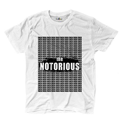 T-shirt Logo Parodia The Notorious F*ck Divertente Funny 3 M