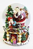 Riesen Schneekugel mit Schnee u. Glitzer H:20 cm,Weihnachtsmann,Weihnachten, spielt Jingle Bells (4900100)