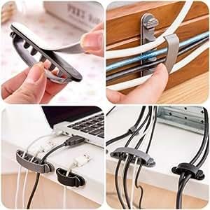 10pcs souple fil de câble cordon organisateur titulaire pince clinch fixateur 3 tailles
