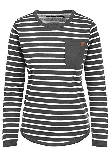 Blend She Christin Damen Sweatshirt Pullover Sweater Mit Rundhalsausschnitt Und Fleece-Innenseite, Größe:XL, Farbe:Charcoal (70818) (Fleece-pullover Charcoal)