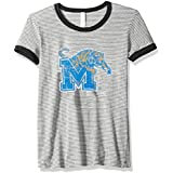 Blue 84 NCAA Memphis Tigers Women's Tri-Blend Retro Stripe Ringer Shirt, Medium, Royal