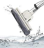 LWVAX Multi Use Stainless Steel, ABS Sponge Floor Wet Cleaning Mop (Medium, Multicolour)
