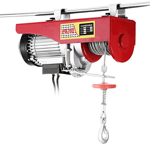 Mophorn Elektrische Hebezeug 440LBS 200 KG Overhead Elektrische Hebezeug 220 V Elektrische Seilzug Fernbedienung Garage Auto Shop Overhead Lift (440LBS 200 KG)