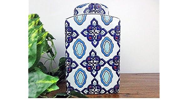 Vase Porzellan Deckelvase Ingwergefäß Ginger Jar China 21cm P0138 Asiatika: China