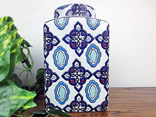 Yajutang Deckelvase Ginger Jar Ingwergefäß Vase China Porzellan 17cm P0116 (Ginger Jar Vase)