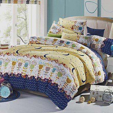 AIURLIFE Funda nórdica de lino las hojas de cama jardín , king