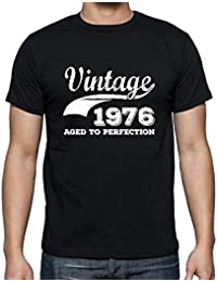 Vintage 1976, Aged to perfection, cadeau homme t shirt, tshirt homme anniversaire, homme anniversaire tshirt