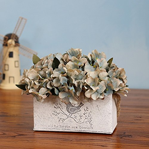 Jnseaol Kunstblumen Künstliche Blumen Gefälschte Blumen Wok Diy Wand Wohnzimmer Schlafzimmer Fensterbank Party Küche Startseite Urlaub Geschenke Topfpflanzen Vintage Blau-02