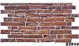 1 PVC Dekorplatte Steindekor Wandverkleidung Platten Wand 98x49cm, 53914