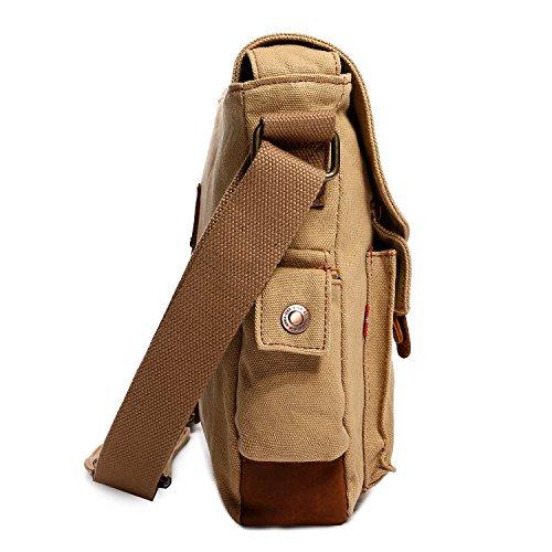 Damen-Umhängetaschen Mupack Retro Leinwand Messenger Taschen Outdoor Arbeit Sporttaschen Grün Khaki