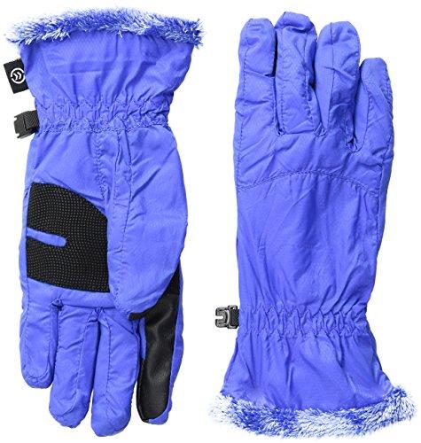Isotoner Nylon-handschuhe (Isotoner SmarTouch smartDRI Damen Handschuhe, mit Microluxe - Blau - Mittel)