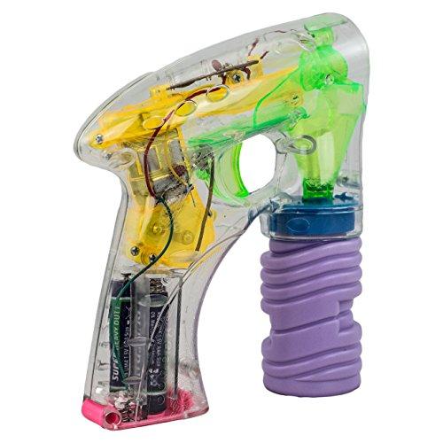 XTC SP-1 Seifenblasenpistole mit bunter LED-Beleuchtung inkl. Seifenflüssigkeit und Batterien