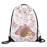 Roue Sloth Men's and Wome's Sport Gym Sack Drawstring Backpack Bag