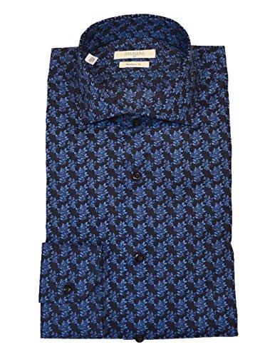 Delsiena -  camicia casual  - floreale - classico  - uomo blu navy blue