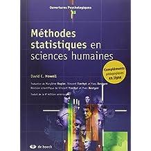 Méthodes statistiques en sciences humaines