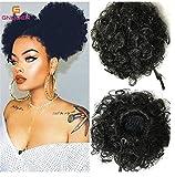 Haned Kanekalon Afro soffici Clip Drawstring nei capelli Bun per donne parrucca singoli farmaci: altri farmaci singola categoria di Colore: Naturale nero, nero di piccola potenza n