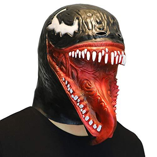(LCLrute Halloween Maske Cosplay Venom Maske schmelzendes Gesicht Latex Kostüm Sammler Prop Scary Maske Spielzeug)