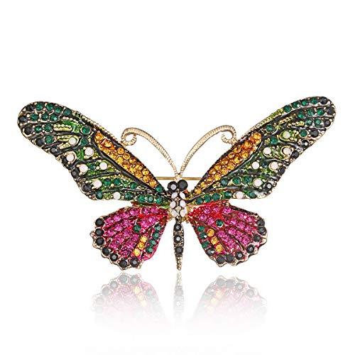 Wayouter spilla da donna elegante spilla spilla accessori di abbigliamento per donna/ragazza, perfect valentine regalo per amanti (farfall-d)