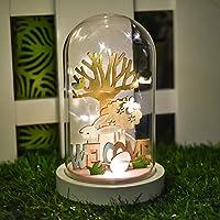 Pacchetto incluso:   1 * Illumina la cupola di vetro di Pasqua   Le nostre scene della cupola di vetro sono state create in legno dipinto e presentano scene e disegni pasquali. Questa decorazione della stanza pasquale piena di senso della ...