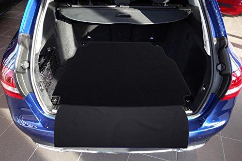 Tuning-Art 2605 Auto Kofferraummatte mit Ladekantenschutz 2-teilig (Gummi-auto-matten Mercedes-benz)