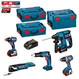 Kit Bosch ECL5P3BE (GDX 18 V-EC + GOP 18 V-EC + GSR 18 V-EC TE + GBH 18 V-EC + GSR 18 V-EC + Zubehör GOP + Ladegerät AL1860CV + 3 Akkus 5,0 Ah + 2 x Koffer L-Boxx 136 + Koffer L-Boxx 238)