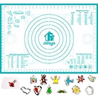 Nifogo Silicone Baking Mat Non-Stick & Cookie Cutters Set,Reusable Flexible Easy Clean BPA Free Kneading Mats for…