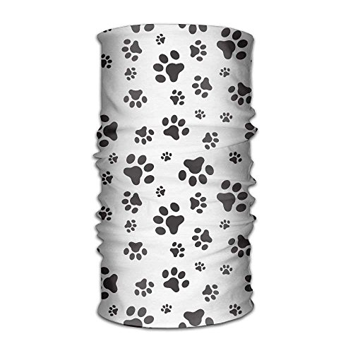 WITHY Dog Paws Versatile Outdoors Daily Stylish Headwear Multifunctional Sport Headband Sweatband,Magic Scarf,Head Wrap,Neck Gaiter,Bandana,Helmet Liner, Balaclava,Tube Mask