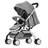 SHOWGG Kinderwagen, Leichter sitzender und liegender Kinderwagen, High-Landscape-Luxus-Kinderwagen-Reisesystem 30 * 14
