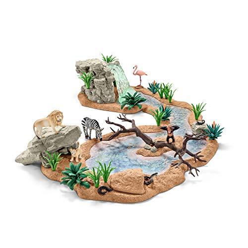Schleich 42321 - Große Abenteuer Wasserstelle, mehrfarbig
