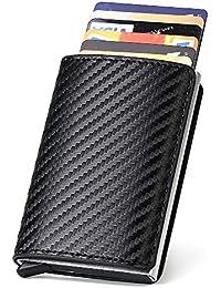 URAQT Porte Carte Crédit, RFID Carte de Crédit Carbon Fiber, Etui de Carte de Visite