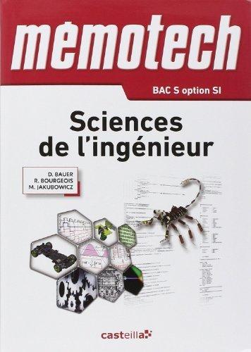 Sciences de l'ingnieur 1e et Tle S de Denis Bauer (4 janvier 2012) Broch
