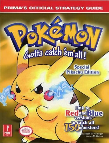 Pokemon Yellow: Official Strategy Guide (Prima's official strategy guide) by E. Hollinger (1-Aug-1999) Paperback