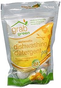 Grab Green Grabgreen Auto Dishwashing Detergent Pods Tangerine With Lemongrass 24 Ct