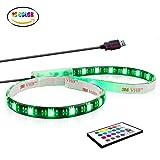 TV Hintergrundbeleuchtung,LED Strip RGB USB Stimmungslicht 50CM / 1.64ft mit Remote.LED Strip.