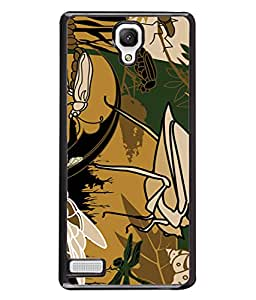 PrintVisa Designer Back Case Cover for Xiaomi Redmi Note :: Xiaomi Redmi Note 4G :: Xiaomi Redmi Note Prime (Science Zoology Insect Larvae)