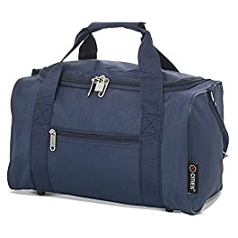 5 Cities 5 Cities 35x20x20 Maximum Ryanair Cabin Hand Luggage Holdall Flight Bag (Navy) Borsone 35 centimeters 14 Blu…