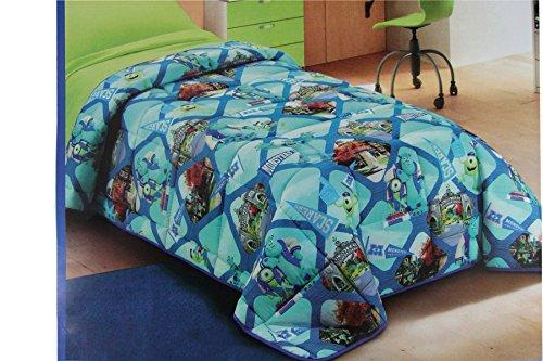 Russo tessuti trapunta piumone disney stampata letto singolo 1 piazza monster's & co.