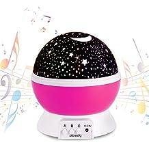 Upgrade - Musik LED Sternenhimmel Projektor Starmaster Nachtlicht Sernenhimmel Lampen leuchten Aufladbar für Kinder Geschenk Schlafzimmer von XHF
