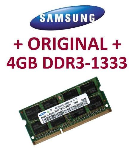 Samsung Sodimm (SAMSUNG Original 4 GB 204 pin DDR3-1333 PC3-10600 CL9 SO-DIMM (M471B5273BH1-CH9) für aktuelle DDR3 i5 + i7 Notebooks mit DDR3-1333Mhz Unterstützung)